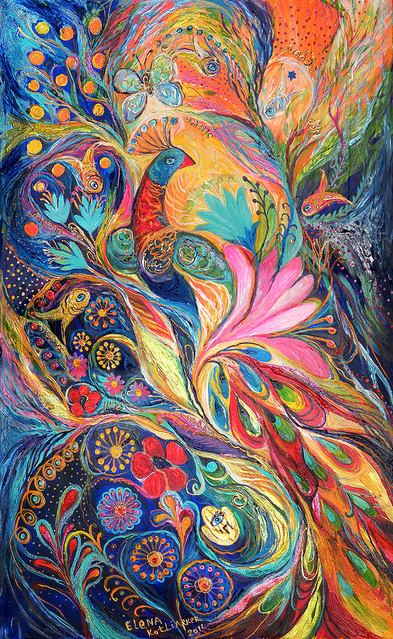 Original Painting - The King Bird. The Original Can Be Purchased Directly From Www.elenakotliarker.com by Elena Kotliarker