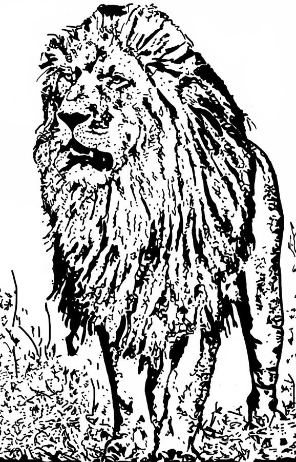 The King Drawing - The King by Lori Jackson
