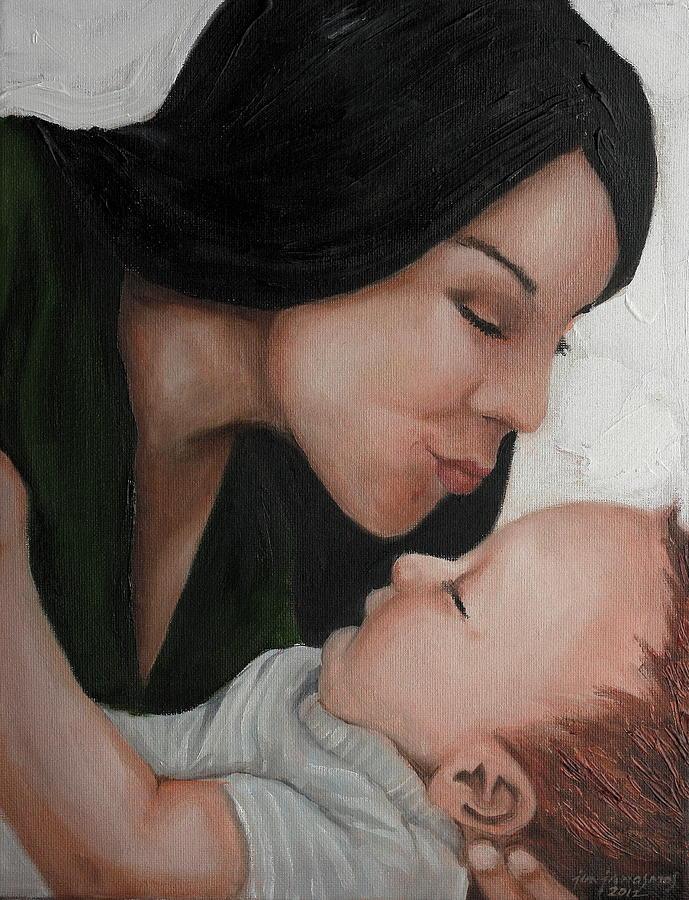 Kiss Painting - The Kiss by Jun Jamosmos