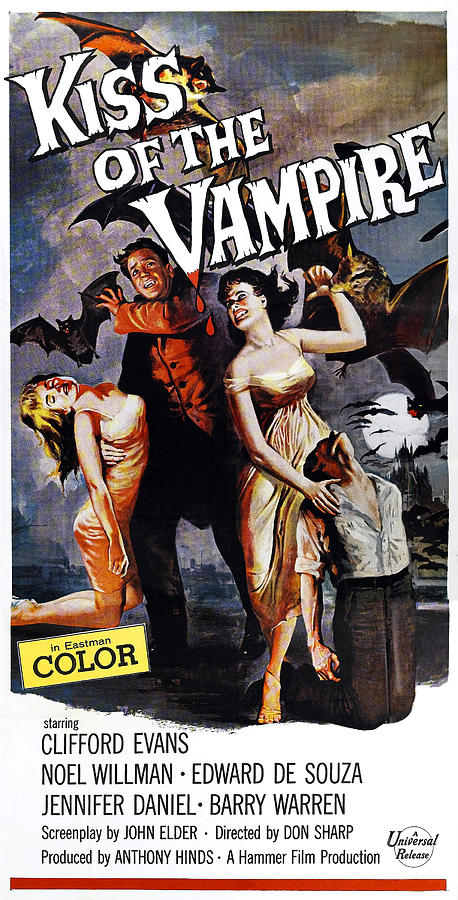 1963 Movies Photograph - The Kiss Of The Vampire, Aka Kiss Of by Everett