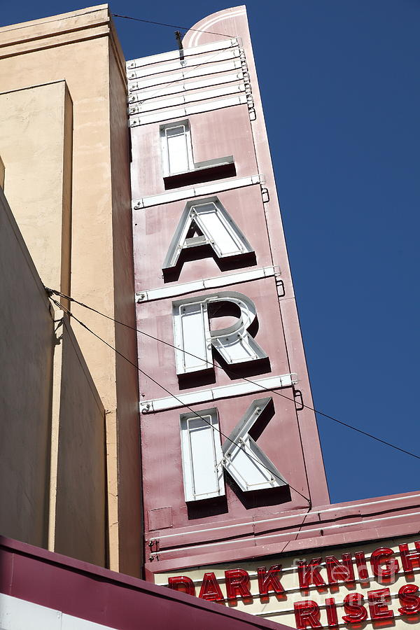 Bay Area Photograph - The Lark Theater In Larkspur California - 5d18489 by Wingsdomain Art and Photography