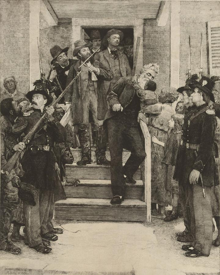 History Photograph - The Last Moments Of John Brown, Etching by Everett