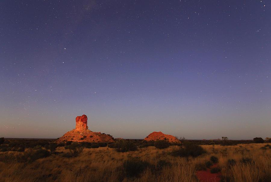 Rocks Photograph - The Last Of The Night by Paul Svensen