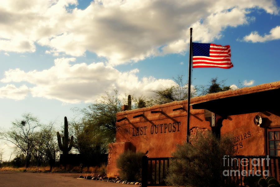 The Last Outpost Photograph - The Last Outpost Old Tuscon Arizona by Susanne Van Hulst