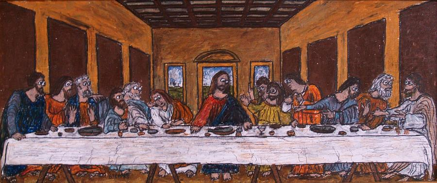 The Last Supper After Da Vinci Drawing By Jacob Stempky