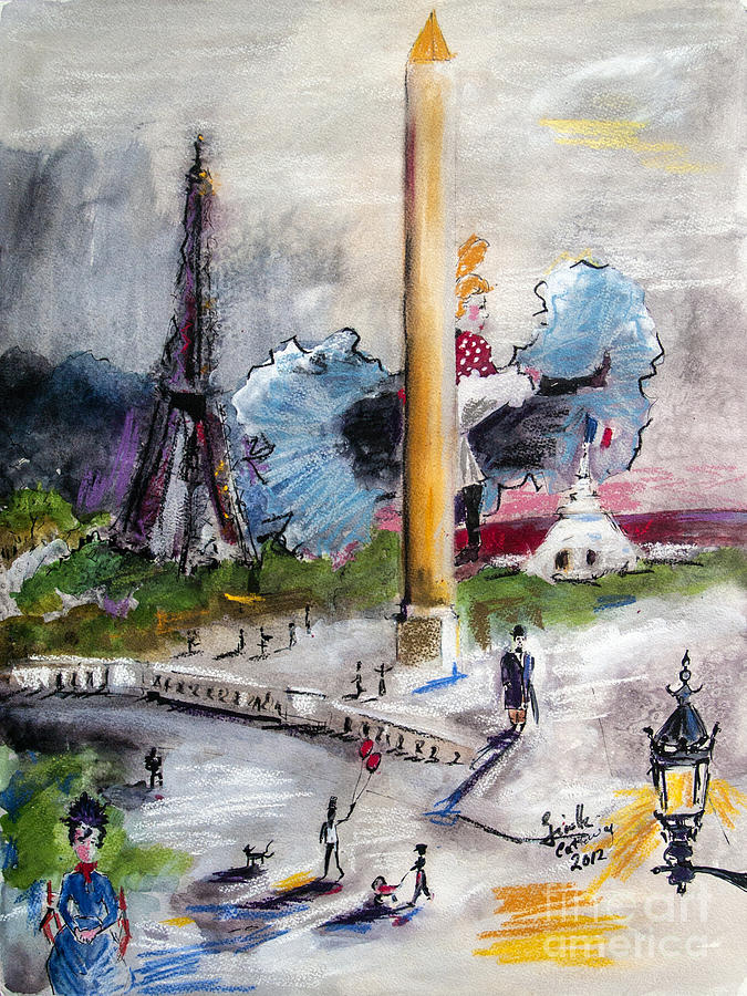Paris Painting - The Last Time I Saw Paris by Ginette Callaway
