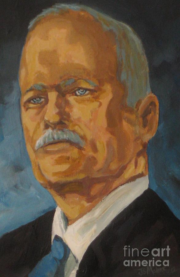 Jack Layton Painting - The Late Honorable Jack Layton by John Malone