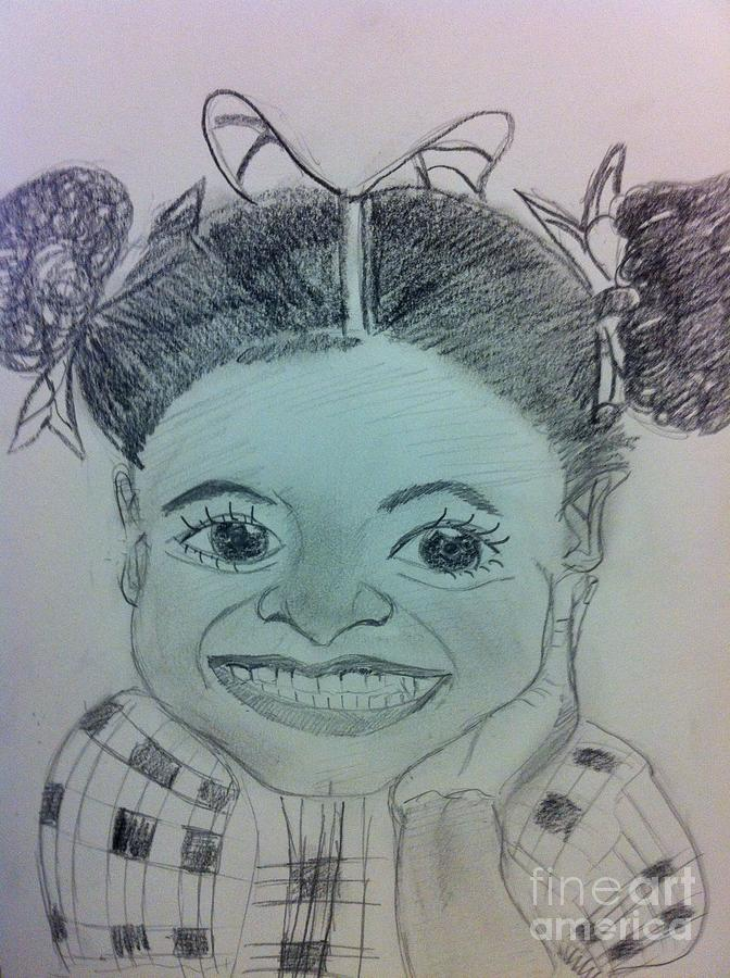 The Late Jahessye Shockley Drawing by Charita Padilla