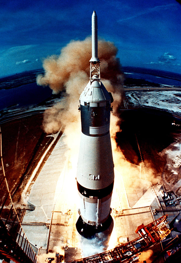 The Launch Of A Space Rocket Photograph by Stockbyte