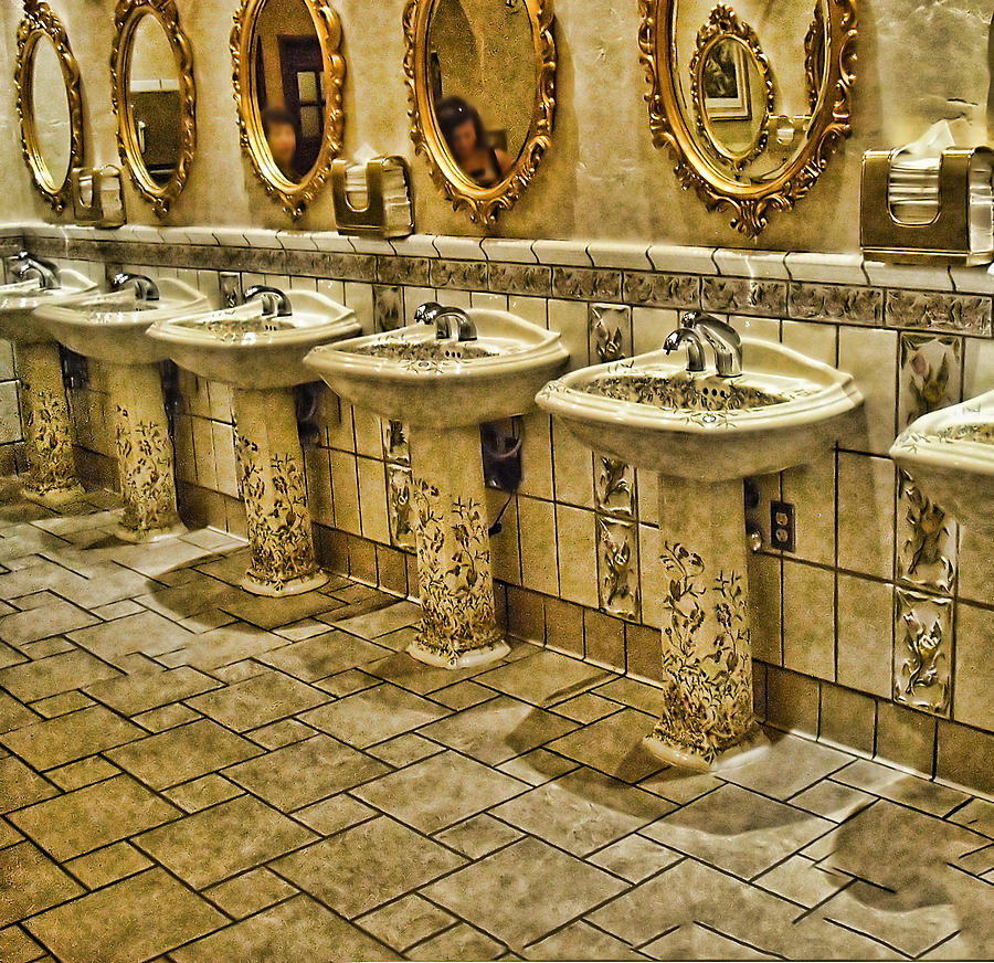 Bathroom Photograph - The Lav Of Luxury by Anne Rodkin