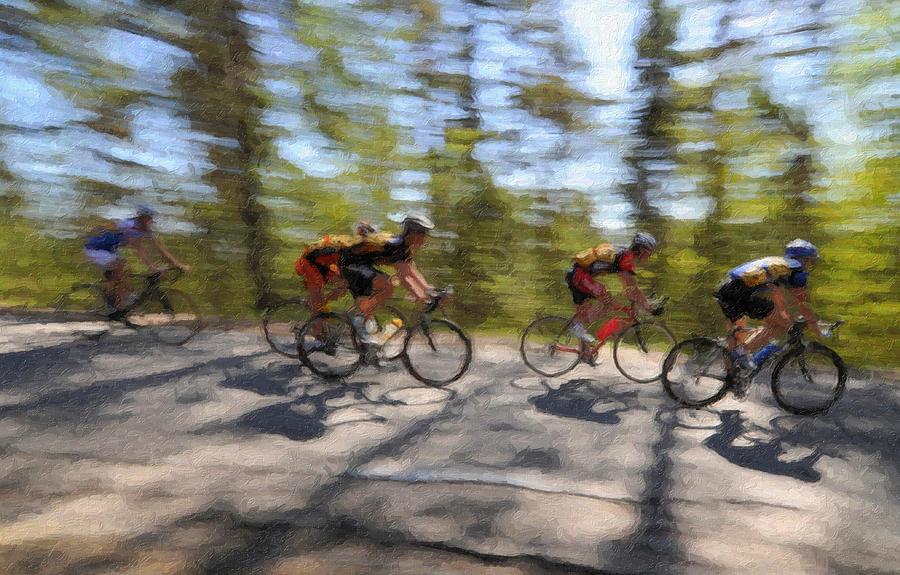 Bike Digital Art - The Leading Group  by Ari Salmela