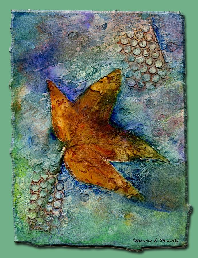 Psalms Painting - The Leaf That Does Not Wither. by Cassandra Donnelly