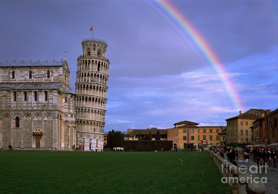 Tower Photograph - The Leaning Tower of Pisa by Serge Fourletoff