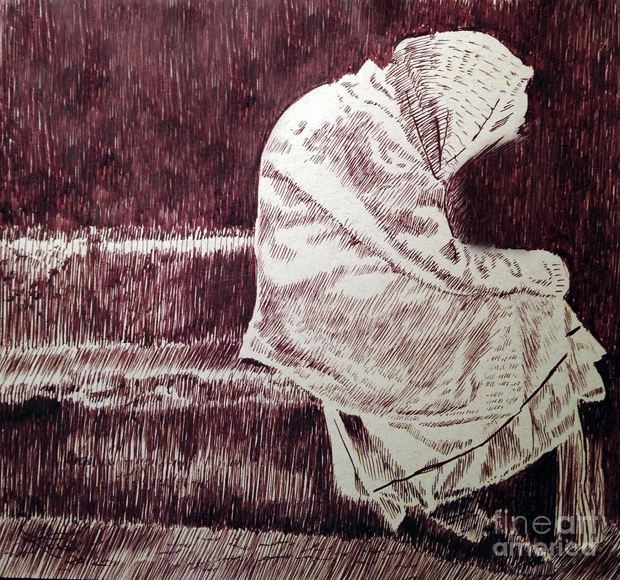Pen Drawing - The Least Of These by Robbi  Musser