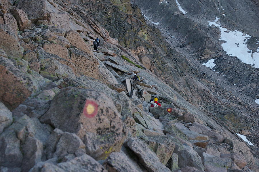 The Ledges Photograph - The Ledges On Longs Peak by Cynthia Cox Cottam