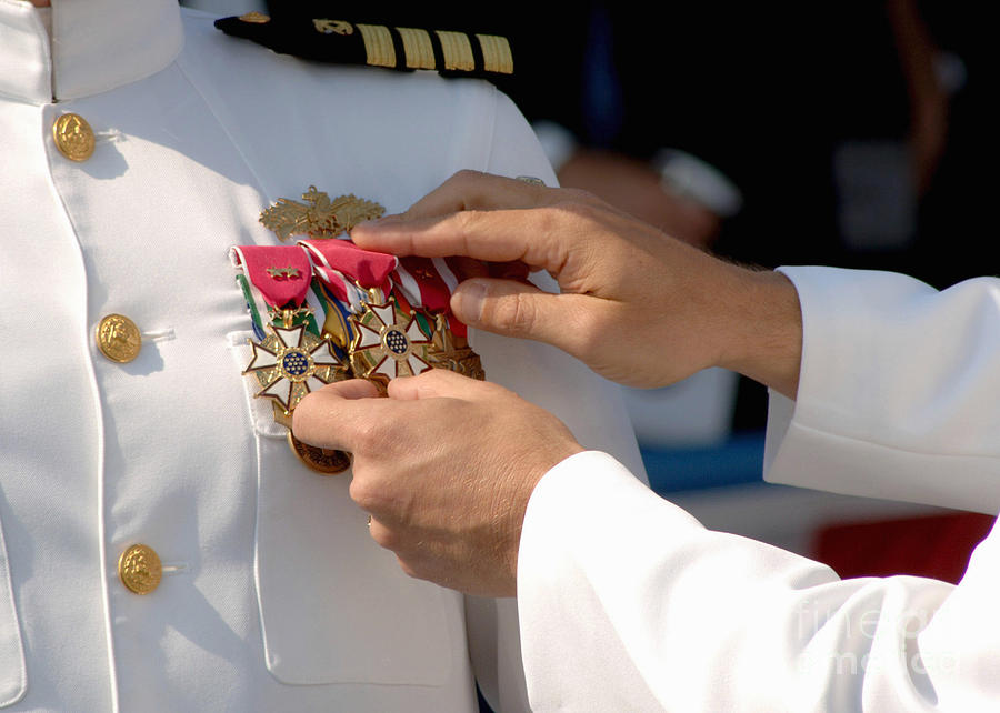 Color Image Photograph - The Legion Of Merit Medal by Stocktrek Images