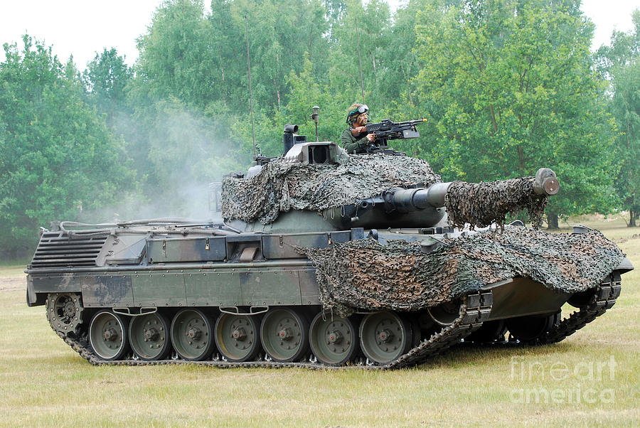 Military Photograph - The Leopard 1a5 Main Battle Tank by Luc De Jaeger