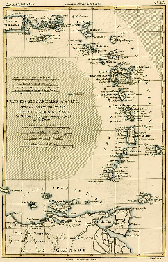 The Lesser Antilles Or The Windward Islands Drawing by Guillaume
