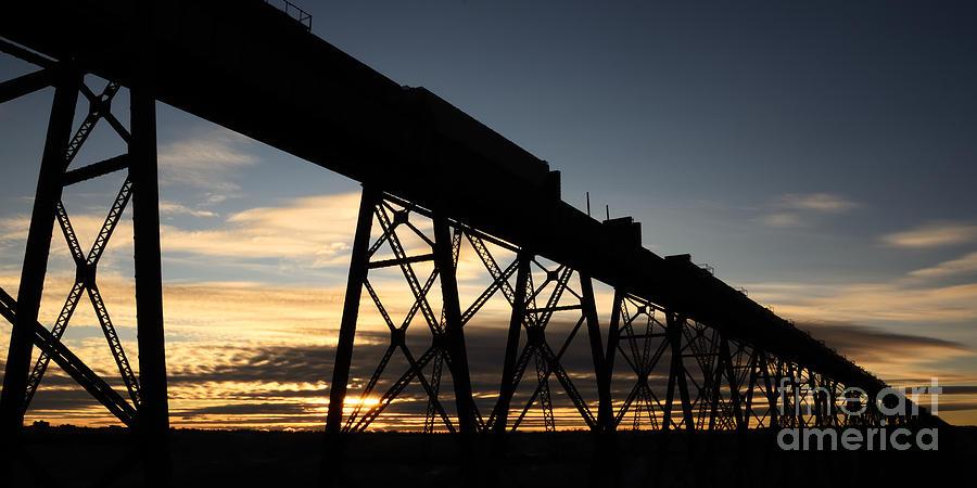 Lethbridge Photograph - The Lethbridge Bridge by Vivian Christopher
