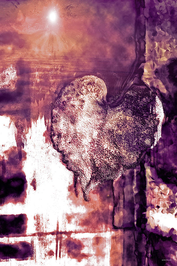 Heart Digital Art - The Light Within by Linda Sannuti