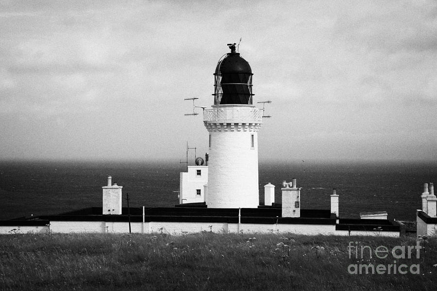 Dunnet Photograph - The Lighthouse At Dunnet Head Most Northerly Point Of Mainland Britain Scotland by Joe Fox
