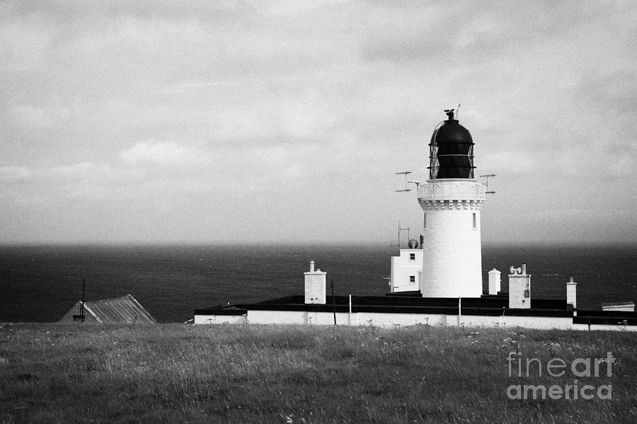 Head Photograph - The Lighthouse At Dunnet Head Most Northerly Point Of Mainland Britain Scotland Uk by Joe Fox