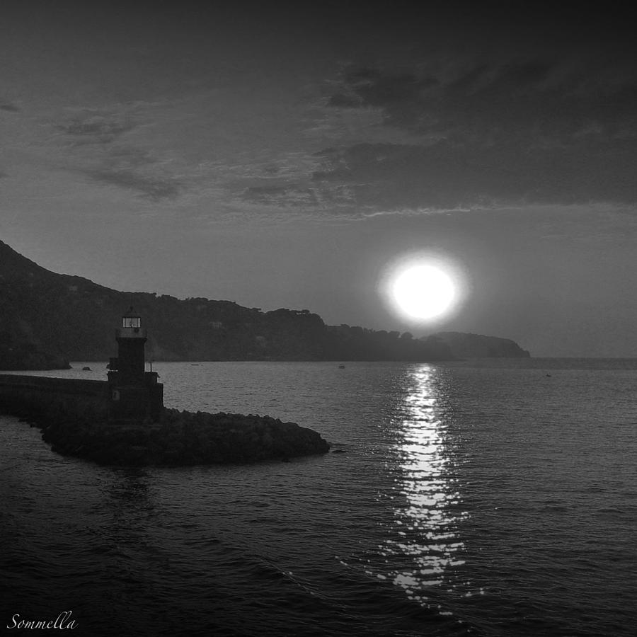 Sunset Photograph - The Lighthouse by Gianluca Sommella