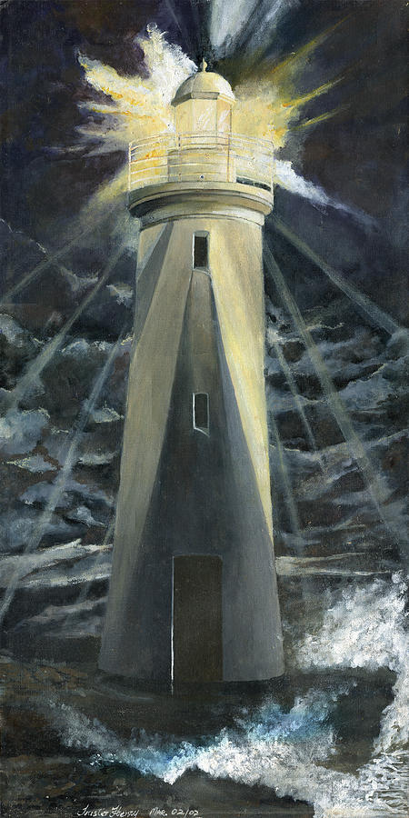 Lighthouse Painting - The Lighthouse by Trister Hosang