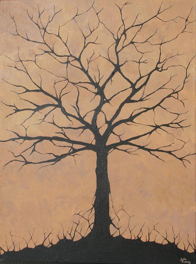 Tree Painting - the Lindsey Tree by Julia Raddatz