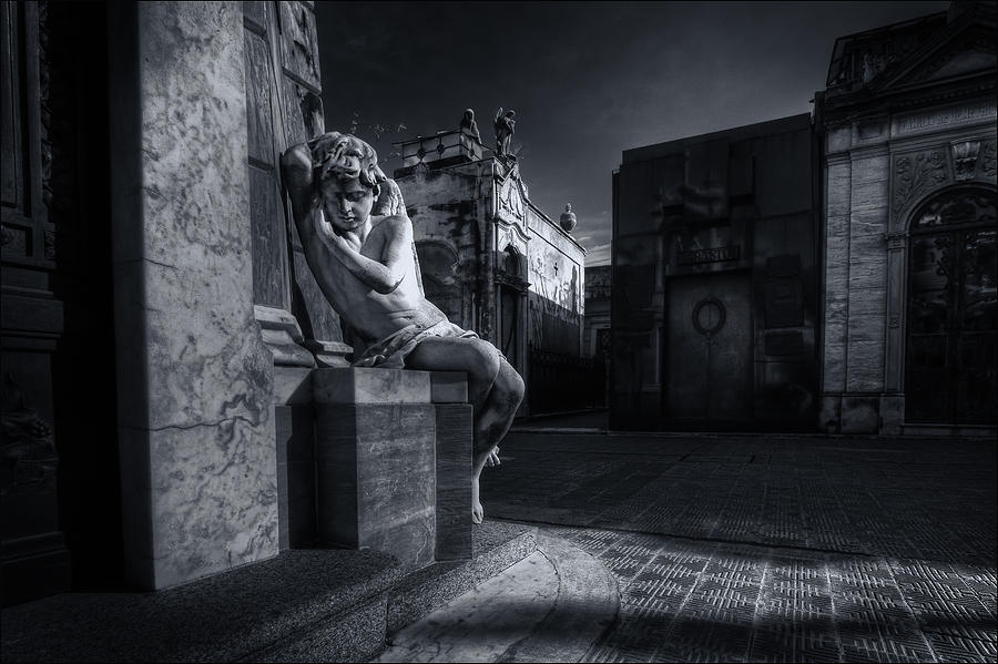 Angel Digital Art - The Little Angel Recoleta Cemetery Ba by Diane Dugas