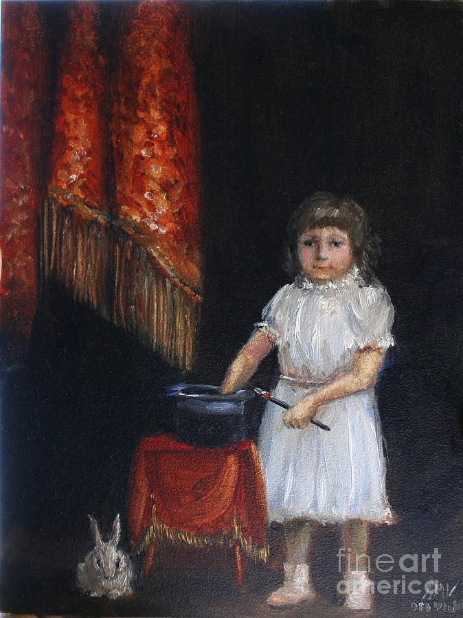 Violano Painting - The Little Magician by Stella Violano