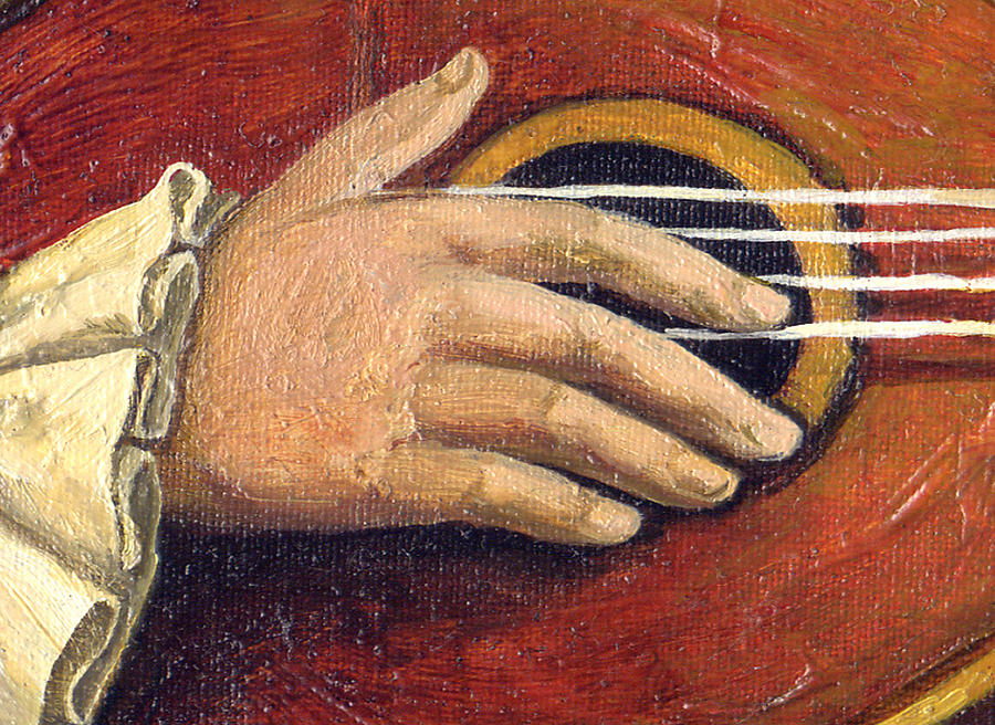 Music Painting - The Little Mozart.detail I. by Victoria Francisco