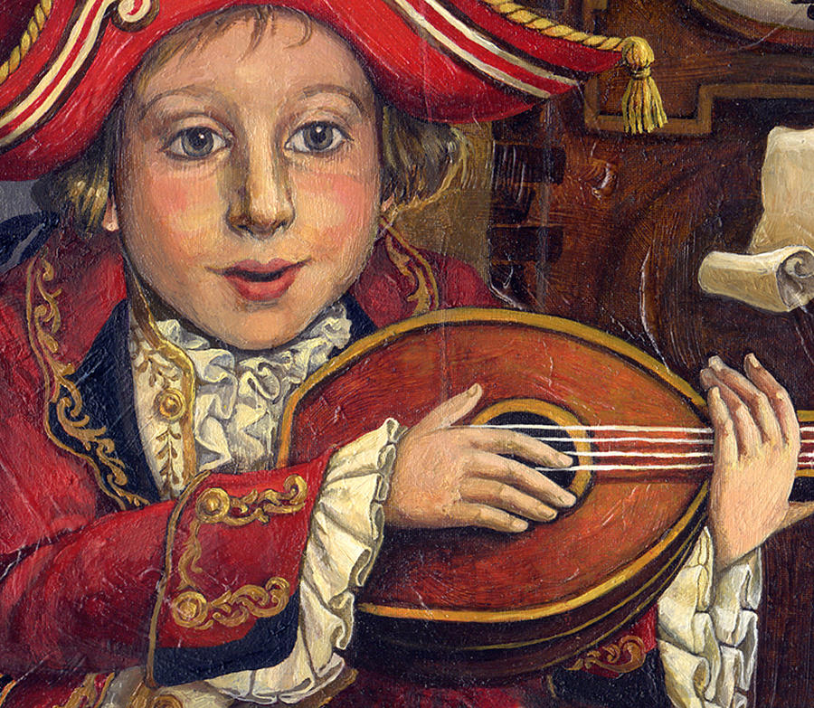 Fantasy Paintings Painting - The Little Mozart.detail. by Victoria Francisco