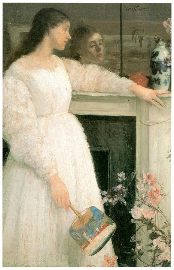 James Abbott Mcneill Whistler Painting - The Little White Girl by James Abbott McNeill Whistler