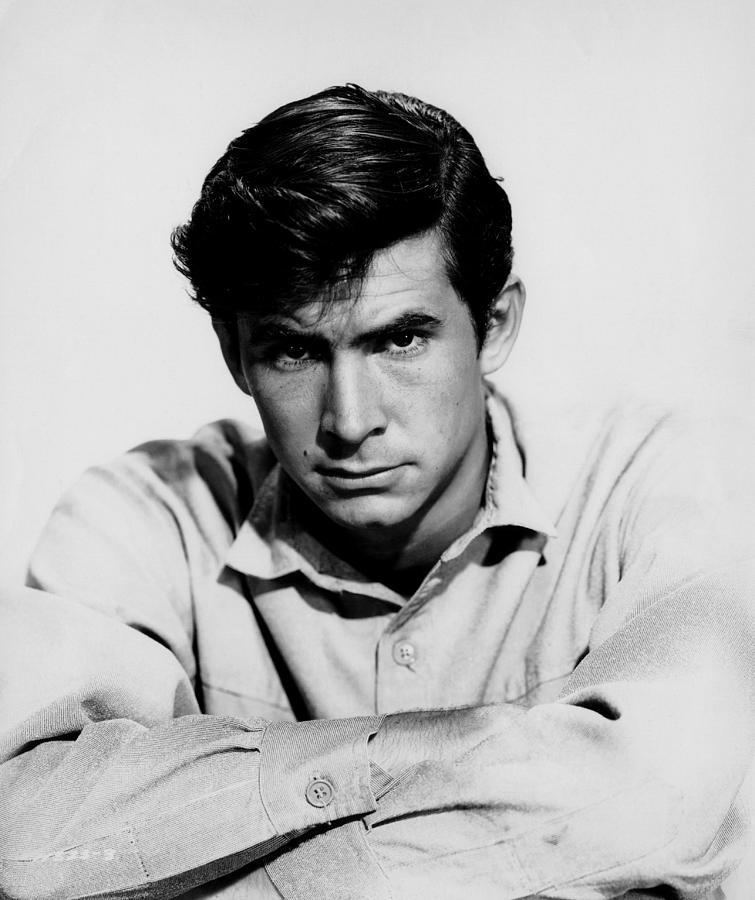 1950s Portraits Photograph - The Lonely Man, Anthony Perkins, 1957 by Everett