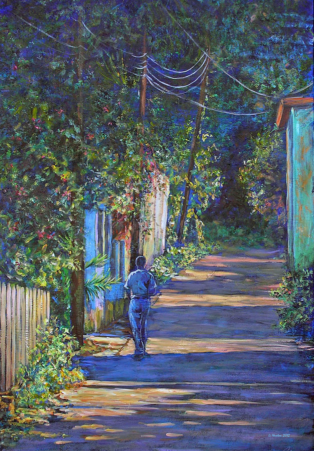 Acrylic Painting - The Lonely Road by Li Newton