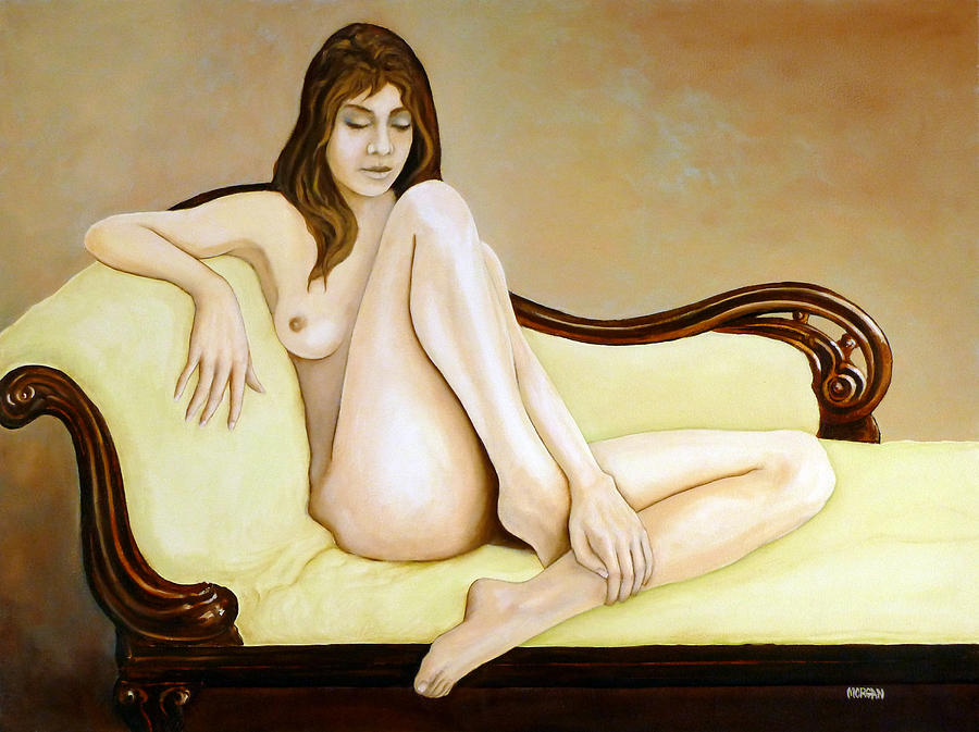 Nude Painting - The Long Pose by Tom Morgan