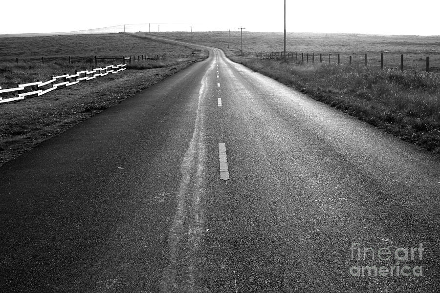 Philosophical Photograph - The Long Road Home . 7d9903 . Black And White by Wingsdomain Art and Photography