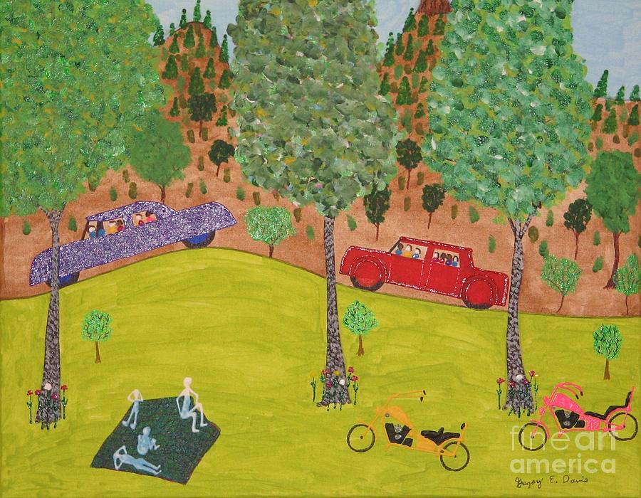 Hills Painting - The Long Vacation by Gregory Davis