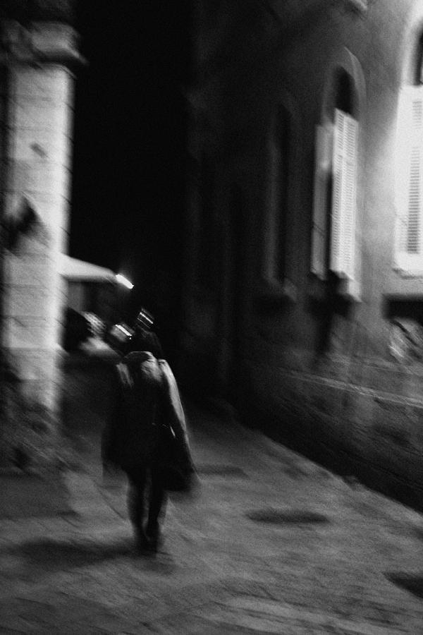 Black Photograph - The Long Way Home by George Koroxenidis