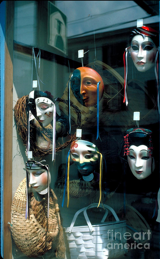 Mask Photograph - The Looking Glass by Guy Harnett
