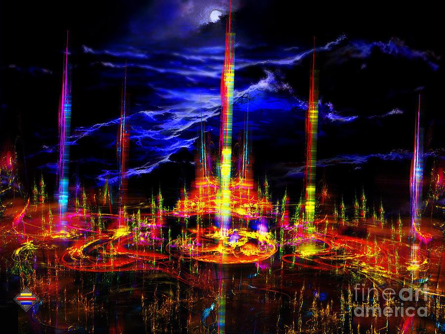 Digital Painting Digital Art - The Lost World by Vidka Art