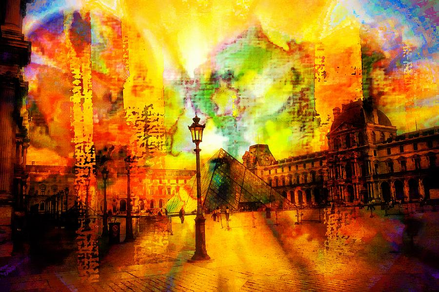 The Louvre Digital Art By Carrie Obrien Sibley