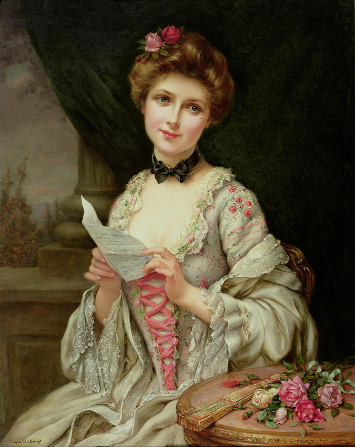 The Love Letter Painting by Francois Martin-Kayel