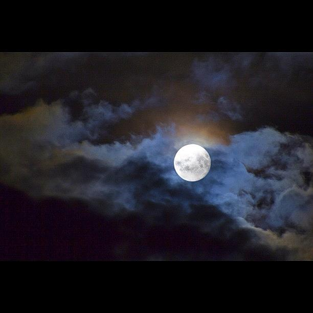 Weather Photograph - The Lovely Luna Over Leeds by Carl Milner