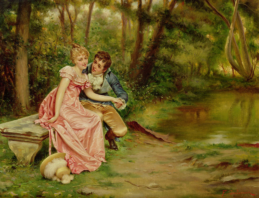 The Lovers Painting - The Lovers by Joseph Frederick Charles Soulacroix