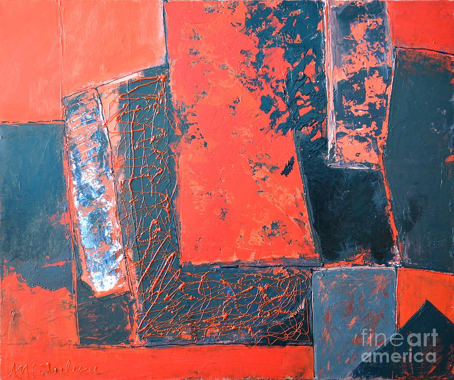 Abstract Painting - The Ludic Trajectories Of My Existence  by Ana Maria Edulescu
