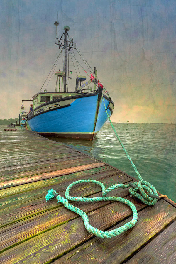 Boats Photograph - The Lurcher Digger by Debra and Dave Vanderlaan