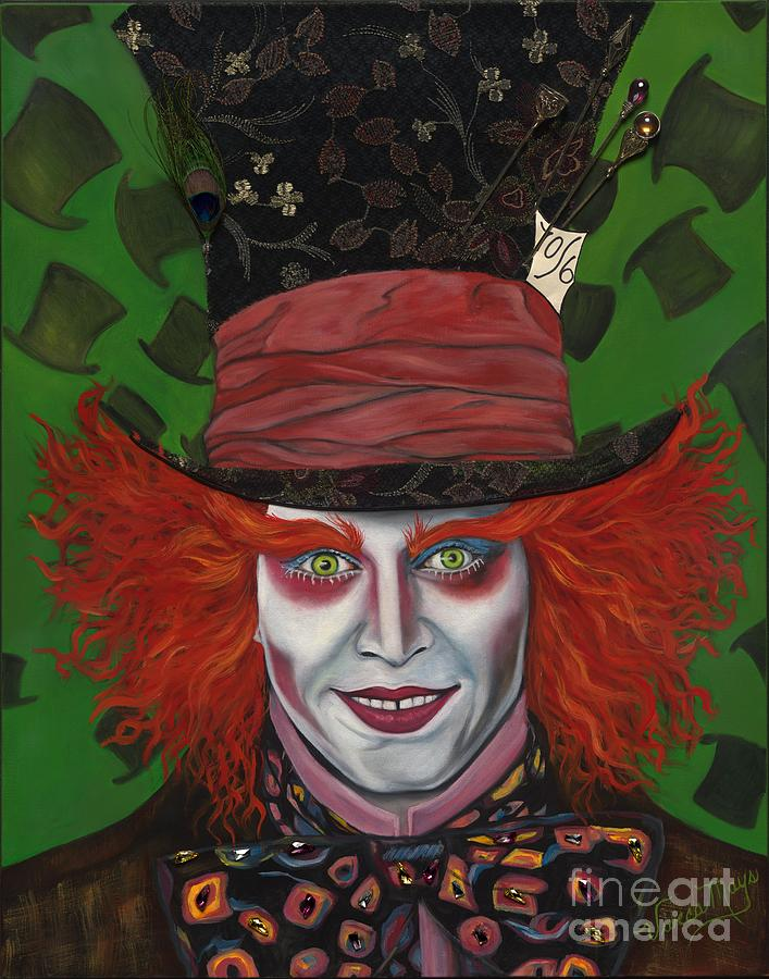 Mad Hatter Painting - The Mad Hatter by Viveca Mays
