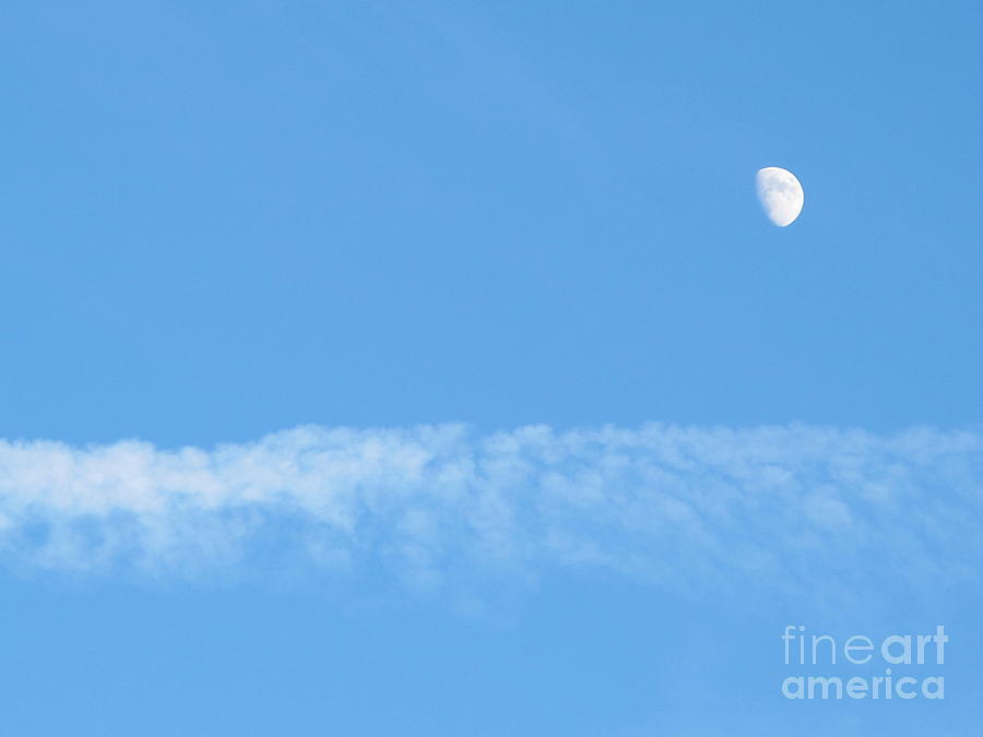 Nature Photograph - The Magic Of The Moon by Valia Bradshaw